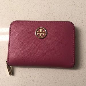 Tory Burch Pink Robinson Coin Purse